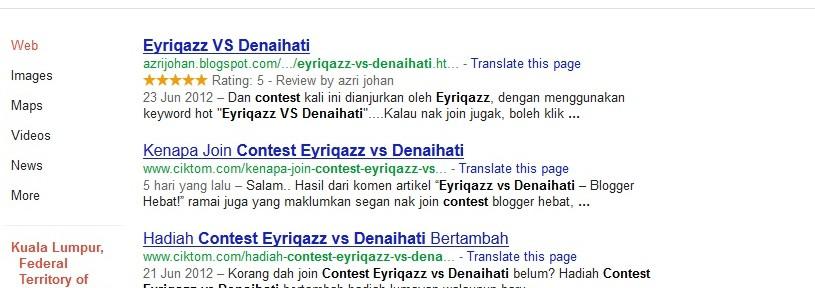 contest eyriqazz vs denaihati