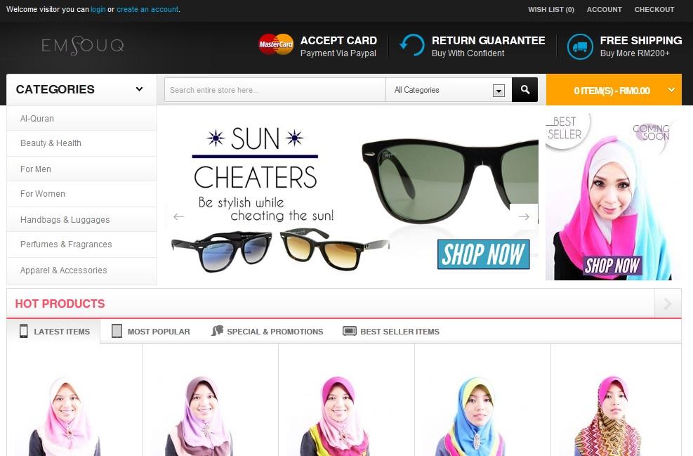 contoh laman web perniagaan di epic pocket
