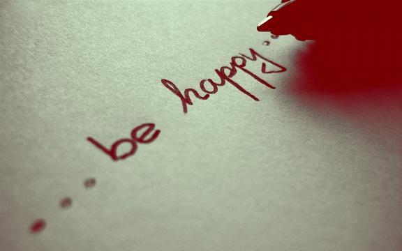 gembiralah lebih baik daripada suka terasa hati