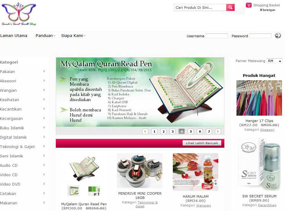 contoh kedai online muslim niaga